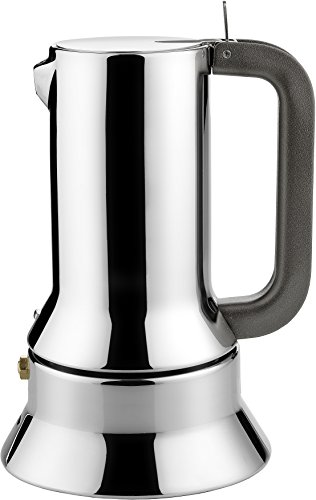 Alessi 9090/6 - Cafetera italiana de acero inoxidable brillo 18/10...