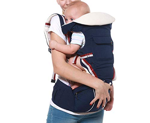 Multifunctional Baby Carrier Ergonomic Baby Sling Backpack 9 in 1 Newborn Infant Carrying Belt for 3-36 Months,Dark Blue