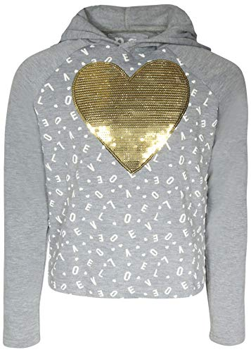 8' Heart Light Set - p.s. from aeropostale Girls Fashion Yummy Fleece Hoodie, Sequinned Heart, Size 8'