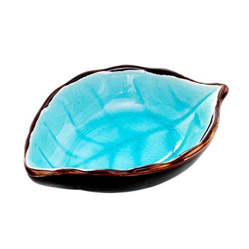 - LiPing Purpose Seasoning Dishes Ice Split Glaze Sauce Vinegar Tablewarefor Salad, Fruit, Dessert, Snack, Small Serving and Mixing Bowls (Light blue)