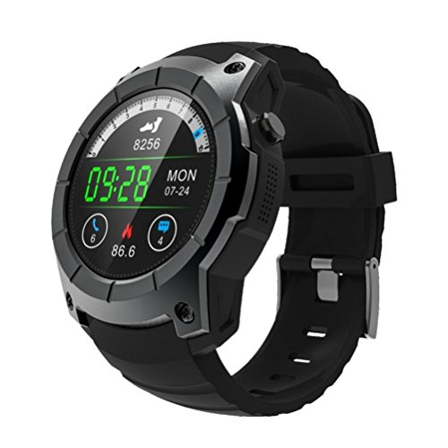 Aurorax Women And Men's Bluetooth Waterproof Smart Watch Support GPS,Air Pressure,Call,Heart Rate,Sport Watch (Black)