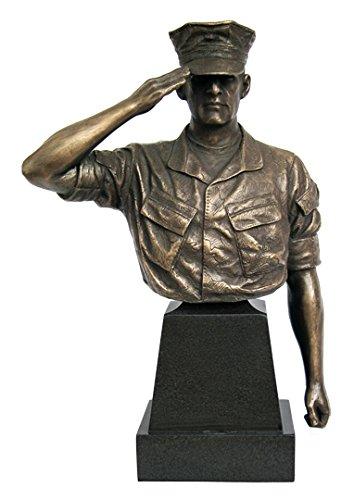 Khaki-Army USA Marine Trooper Hail and Farewell Bust, 8-Inch by Khaki-Army USA