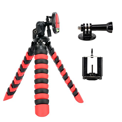 Tairoad 3 in 1 Flexible Mini Tripod for DSLR/Action Cam/Smartphone Bendable Tripod Selfie Monopod by TAIROAD