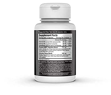 Energy Focus Nootropic Study-Aid, Pre-Workout, Brain Boosting Performance Supplement Natural Vinpocetine, Huperzine, Acetyl-L-Carnitine, Rhodiola Rosea 40 Pills