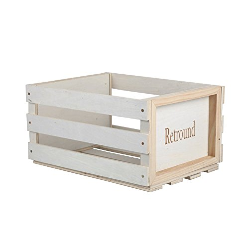 SW B68 Retro Record Holder Wood Crate Holds Up To 50 70 Albums (small) Record  Storage Crate Wood Album Holder Vinyl Organizer Rack Box For 50 70 Albums