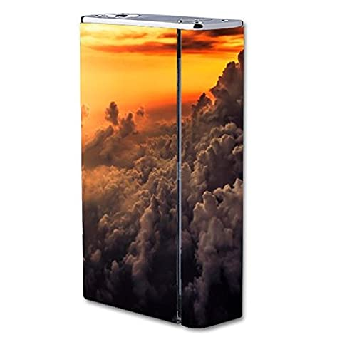 Smok X Cube II 160W TC Vape E-Cig Mod Box Vinyl DECAL STICKER Skin Wrap / Sticker Skin Print Smoke Clouds Sunset Fire Blaze Yellow Flames Printed (Cool Fire 2 Vape Mod)