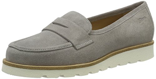Sioux 60111, Mocasines Mujer Gris (Linen)