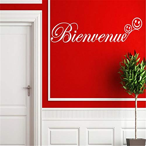 Wall Decal Quote Words Lettering Decor Sticker Wall Vinyl French bienvenue Pour l'entrée du Salon Welcome for Living Room entryway]()