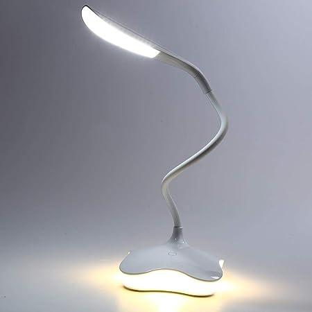 YUENIAO Lámpara De Mesa Led 3 Niveles Regulables Led Sensor De Luz ...