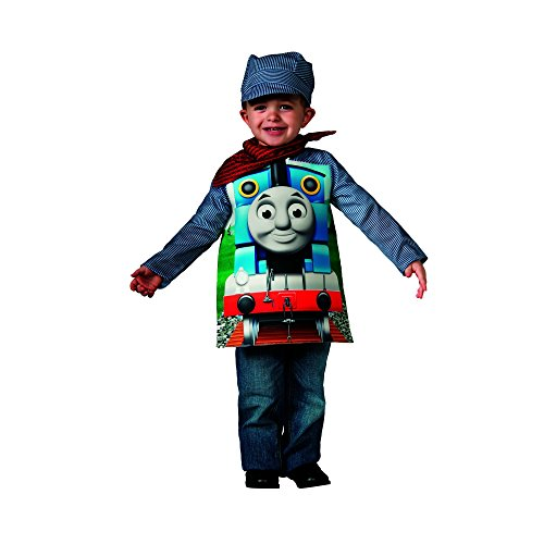 Rubies Thomas and Friends, Deluxe Thomas the Tank Engine and Engineer Costume, Toddler - Toddler One Color (Halloween Thomas)