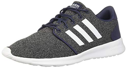 adidas Women's Cloudfoam QT Racer Running Shoe, Trace Blue/White/Black, 9 M US