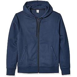 Amazon Essentials Men's Water-Repellent Thermal-Lined Full-Zip Fleece Hoodie, Navy Heather, XX-Large