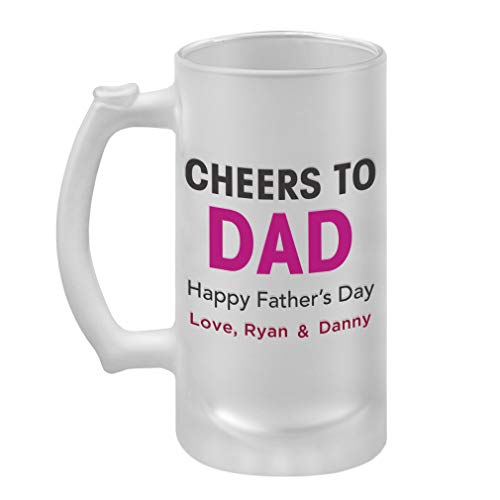 Personalized Custom Cheers to Dad Father
