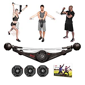 OYO Personal Gym Basic – Full Body Portable Gym Equipment Set for Exercise at Home, Office or Travel – SpiraFlex…