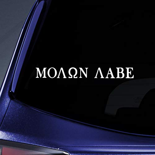 Bargain Max Decals Molon Labe (Come and TAKE Them!) Sticker Decal Notebook Car Laptop 8 (White)