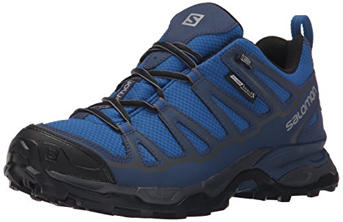 Salomon Men's X Ultra Prime CS Waterproof Athletic Shoe, Deep Water, 8 M US by Salomon