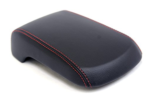 fits-2008-2016-mitsubishi-lancer-synthetic-black-leather-console-armrest-cover-with-red-stitching-sk