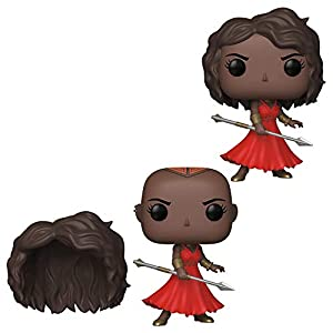 Funko Pop! Marvel: Black Panther - Okoye with Red Dress and Removable Wig, Fall Convention Exclusive