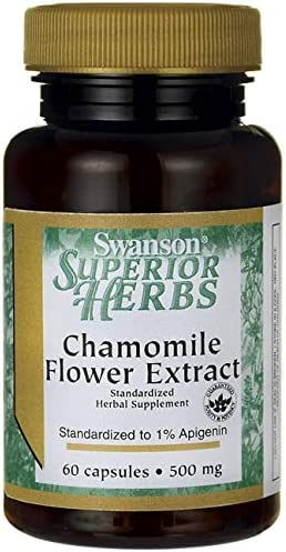 Swanson Chamomile Flower Extract 500 Milligrams 60 Capsule