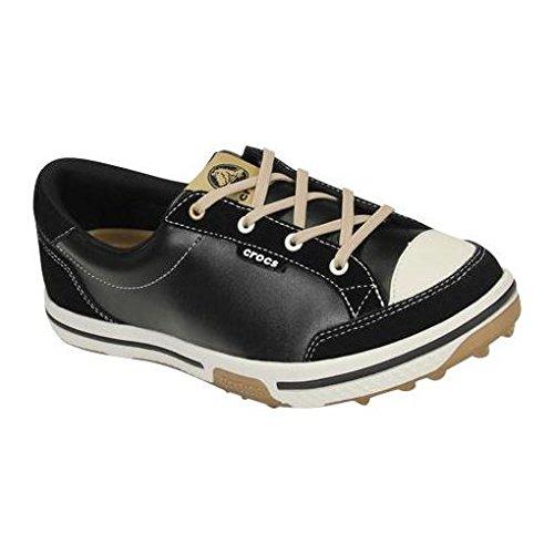 (crocs Women's 15371 Bradyn2 Golf Shoe,Black/Gold,4 M)