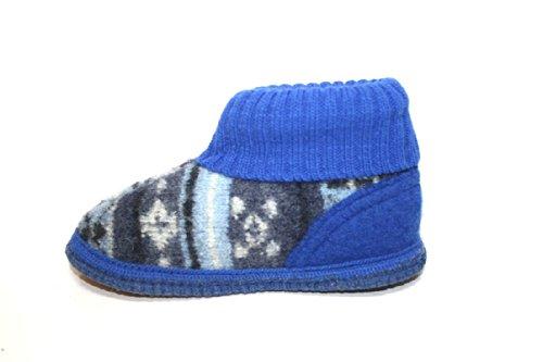 Haflinger , Chaussons pour fille Bleu Bleu 26
