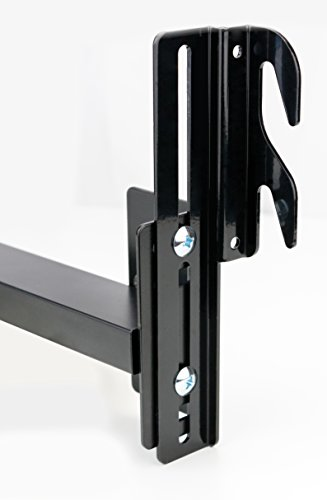 Duck Valley Imports Bed Frame Conversion Brackets (2-Pack) Adjustable Bolt-On to Hook-On | Twin, Full, King, Queen | Fit Headboard, Footboards | Heavy-Duty Metal (Headboard Sleigh Low Profile Bed)