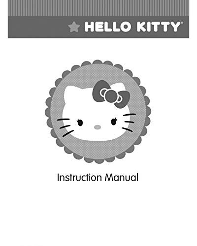(Janome Spare Part Hello Kitty Sewing Machine Instruction Manual Reprint)