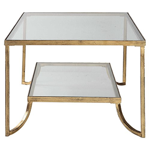 (Vhomes Lights Gold Leaf Coffee Table The Katina Collection Coffee-Tables)