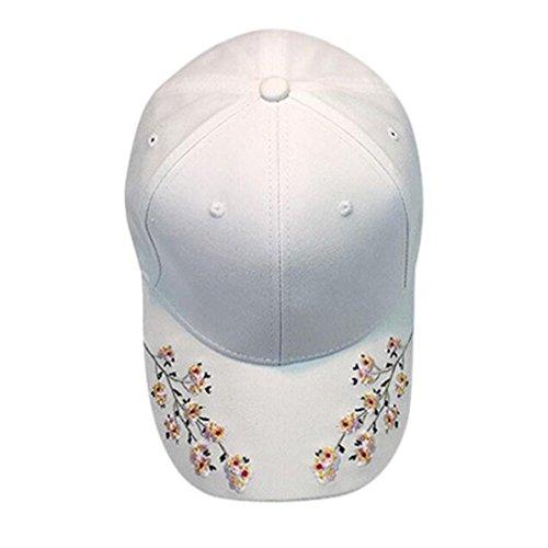 - haoricu Baseball Hat, 2017 New Women Embroidered Baseball Cap Summer Snapback Caps Hip Hop Hats (White)