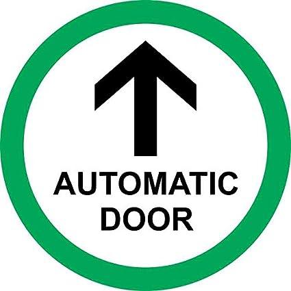 Amazon Com 5in X 5in Green Circle Automatic Door Sticker Vinyl
