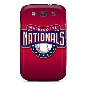 HeatherPA Galaxy S3 Hybrid Tpu Case Cover Silicon Bumper Washington Nationals