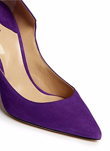 Blasse Wildleder Nachtclub/Partei/Damen Pumps spitz Purple