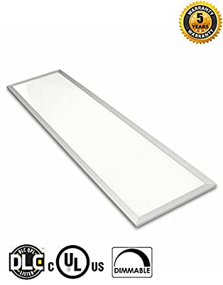 4×1 FEET 45 WATTS UL DLC LISTED LED Panel Light 5500K Cool White Display 5000 Lumens with Dimmable Technology (Package of 4 Panels)