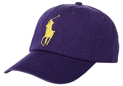 Ralph Lauren Polo Men Big Pony Logo Hat (Purple)