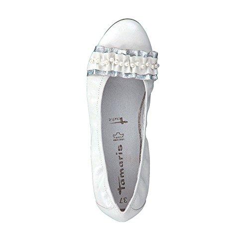 22126 Ballerina 1 Rose 599 Tamaris Ladies Pearl White 20 nHxFw