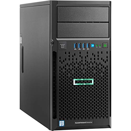 HPE ProLiant ML30 Gen9 Tower Server, Intel Xeon E3-1230 v6 Quad-Core 3.5GHz 8MB, 32GB DDR4 RAM, 8TB Storage, RAID, iLO 4, 3 Years Warranty