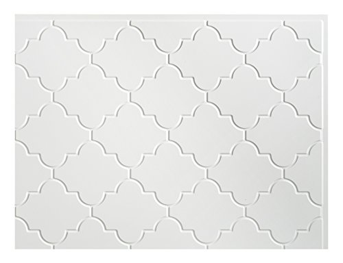 Fasade Easy Installation Monaco Gloss White Backsplash Panel for Kitchen and Bathrooms (18'' x 24'' Panel)
