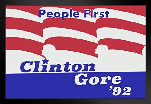 ProFrames Bill Clinton Al Gore 1992 Campaign Framed Poster