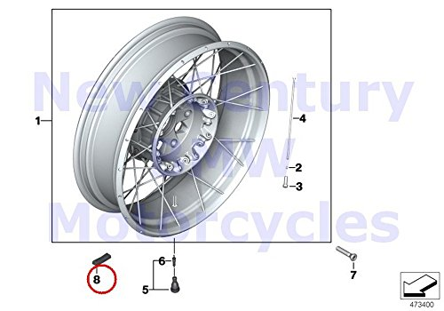 Bmw Motorcycle Wheels - BMW Genuine Motorcycle Wheel Rim Zinc Adhesive Foil Balance Weight 15G R1100GS R1100R R850 R1100RS R1100S R1100RT R1200C R1200 Montauk R1200C Independent K1100LT K1100RS K1200LT K1200RS F650 F650ST F6