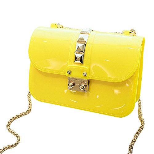 HT - Bolso cruzados para mujer amarillo