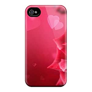 Premium Iphone 4/4s Case - Protective Skin - High Quality For Of Roses Hearts