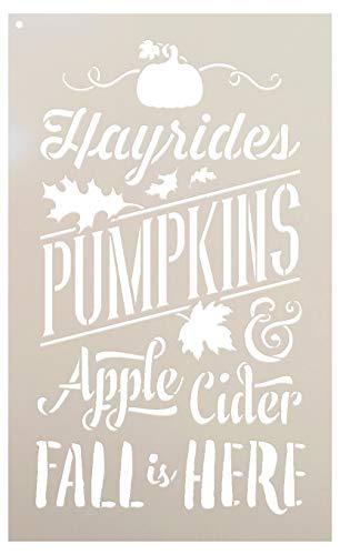 Fall is Here Stencil - Festive - Word Art Stencil - STCL2029 - by StudioR12 (9