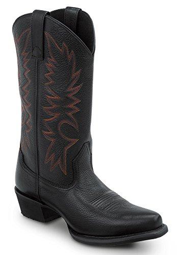 SR Max Nashville Women's Slip Resistant Cowboy Boot (7.0 M, Black/Red)