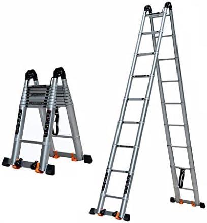 Escalera Telescópica Escalera telescópica plegable - Escalera elevadora de escalera de ingeniería con ruedas multifunción - Carga pesada 150 kg - Escalera extensible de aleación de aluminio para el ho: Amazon.es: Hogar