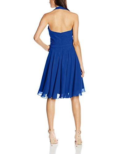 Cocktail Astrapahl Kleid Blau Blau Knielang Damen Neckholder TwROz0q