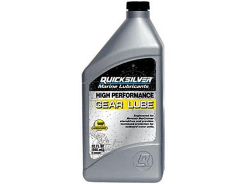 Quicksilver High Performance Gear Lube Synthetic 32 Oz. Bottle - High Performance Gear Oil