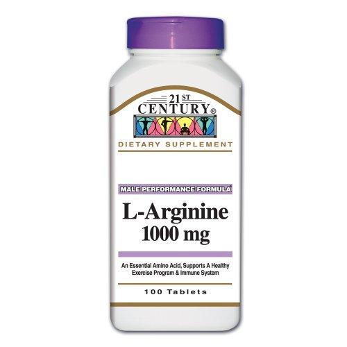 21e siècle L-Arginine 1000 mg, 100-Count