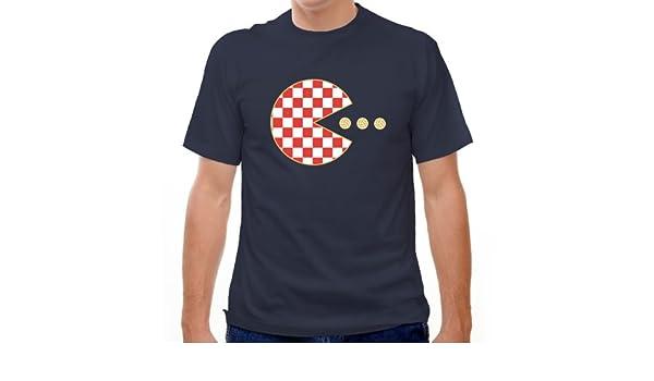 Croacia Pac-Man camiseta de fútbol Azul azul marino Medium: Amazon.es: Ropa y accesorios