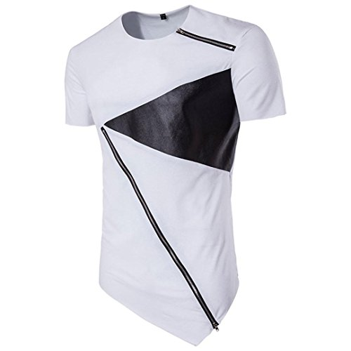Price comparison product image TOOPOOT Summer Print T-Shirts Mens Polo Shirts (US L/Asia XXL, White)