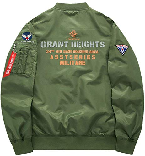Vintage Bomber Giacca Size Per Uomo armeegrün Vento Di Mode Jacket Da 4 Patch Badge Classica A Zip color Marca Leggera 4xl Air Flight Force Con qttA6rg